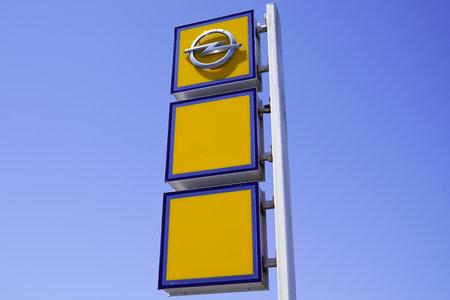 Bordeaux , Aquitaine / France - 06 20 2020 : opel car logo sign of dealership automobiles manufacturer