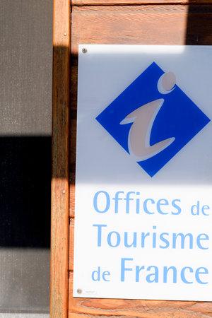 Bordeaux , Aquitaine / France - 06 20 2020 : office de tourisme sign logo of French agency and tourism office