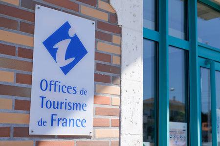 Bordeaux , Aquitaine / France - 06 20 2020 : office de tourisme logo of French tourism office sign in France