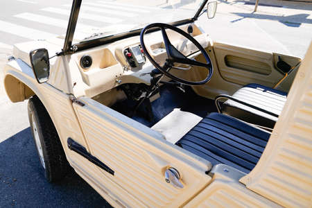 Bordeaux , Aquitaine / France - 06 14 2020 : Mehari car Citroen vintage from sixties beach automobile Redactioneel