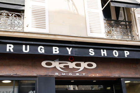 Bordeaux, Aquitaine / France - 07 25 2020: otago rugby shop logo and text sign of rugby sporty clothing store Éditoriale