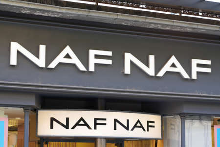 Bordeaux, Aquitaine / France - 07 25 2020: naf naf logo text and store sign of fashion women clothing shop