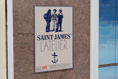 Bordeaux, Aquitaine / France - 07 25 2020: saint james atelier logo and text sign of store marine and boat luxury shop fashion sea boutique