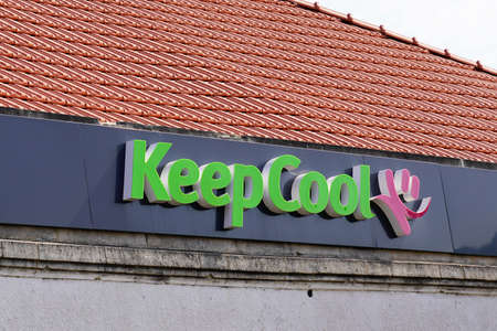 Bordeaux, Aquitaine / France - 07 30 2020: Keep cool logo pink and green text sign of fitness club sporty gym center