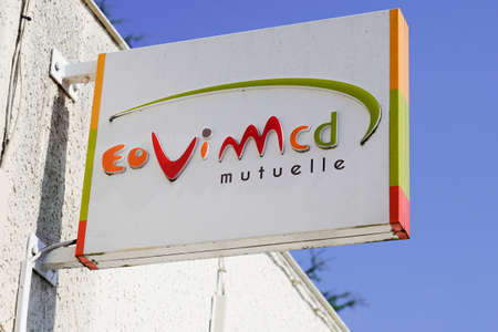 Bordeaux, Aquitaine / France - 07 30 2020: eovi mcd Mutuelle sign and text office logo of French mutual Éditoriale
