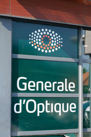 Bordeaux, Aquitaine / France - 07 30 2020: Generale Optique logo and text sign of optician shop glasses store french company