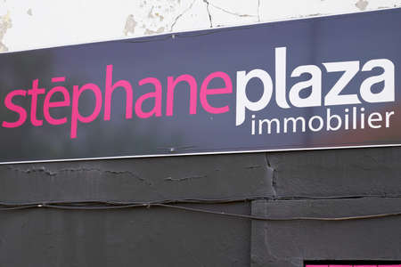 Bordeaux, Aquitaine / France - 07 30 2020: Stéphane Plaza immobilier sign and text logo on office real estate store agency