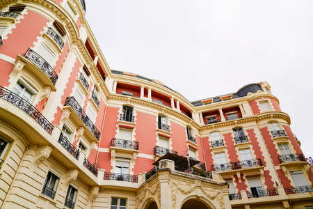 Typical building basque house in Biarritz bask Country in France Éditoriale
