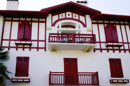 house in Biarritz town in the basque region of the south of France north of spain bask country