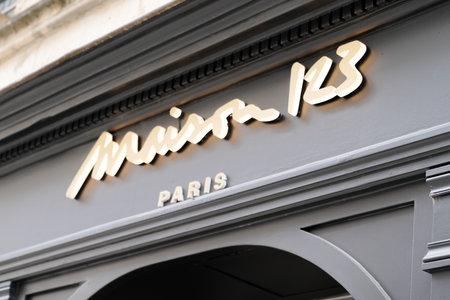 Bordeaux, Aquitaine / France - 08 20 2020: maison 123 paris sign text and logo front of store for clothing fashion women shop Editorial