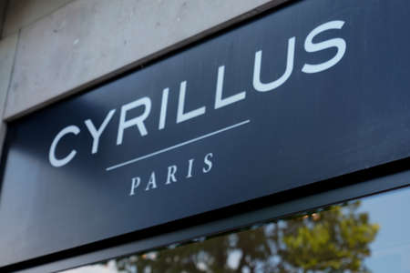 Bordeaux, Aquitaine / France - 09 01 2020: cyrillus paris logo and text sign front of store of Men clothing shop brand