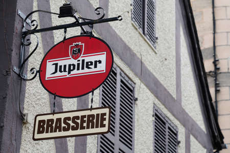 Bordeaux, Aquitaine / France - 09 01 2020: Jupiler logo and text sign beer front of pub local bar restaurant of famous Belgian light pilsner beers
