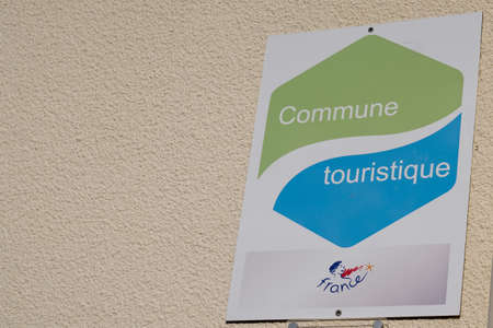 Bordeaux, Aquitaine / France - 10 01 2020: commune tourisme logo sign means tourist country in french for tourism help