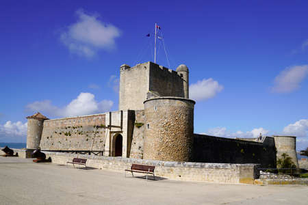 Vauban military fortress of Fouras in sunny day in Charente France