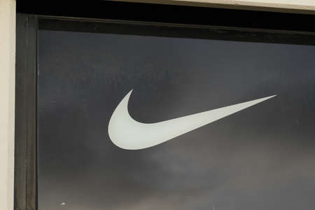 Bordeaux, Aquitaine / France - 10 30 2020: Nike logo sign front of store of sporty American shop multinational corporation manufactures sport clothing Editorial