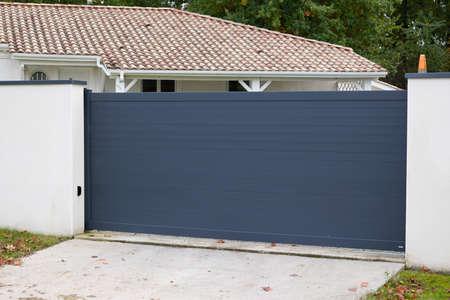 sliding gate modern aluminum portal to home access