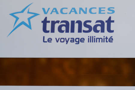 Bordeaux, Aquitaine / France - 11 08 2020: transat logo text and sign on store office of travel agency