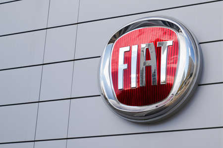 Bordeaux, Aquitaine / France - 11 11 2020: Fiat dealership sign and text logo front of car store Italian automobile manufacturer
