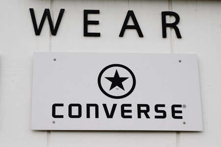 Bordeaux, Aquitaine France - 12 01 2020: Converse All Star logo and text sign front of shoes shop American shoe store company sportswear footwear