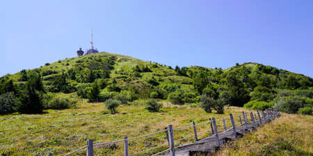 panoramic of french old puy de dome mountain volcano in france Stockfoto
