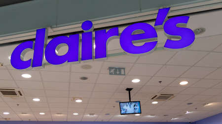 Bordeaux, Aquitaine France - 01 10 2021: claire store sign and brand text logo Claire's of shop retailer accessories and jewelry Redactioneel