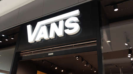 Bordeaux, Aquitaine France - 01 10 2021: vans shop brand logo and text sign front of skater store of fashion clothes for skateboard fan