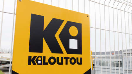 Bordeaux, Aquitaine France - 01 10 2021: Kiloutou logo and text sign front of rental company for vehicle machines tools industrial for construction site Redactioneel