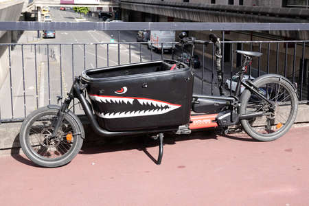 Bordeaux, Aquitaine France - 01 10 2021: DOUZE Cycles French specialist in modular bicycle and configurable cargo bikes