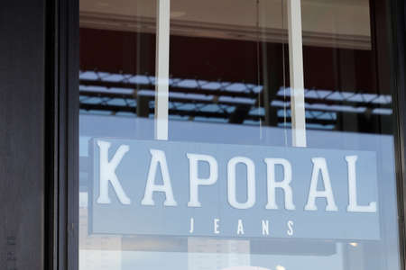 Bordeaux, Aquitaine France - 02 16 2021: Kaporal jeans logo brand and text sign front of store fashion clothing