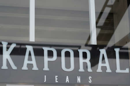 Bordeaux, Aquitaine France - 03 08 2021: Kaporal jeans boutique text logo and brand sign of fashion clothing store