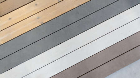 different color of wooden plank for decks and pool edges panel color wall wood texture for background