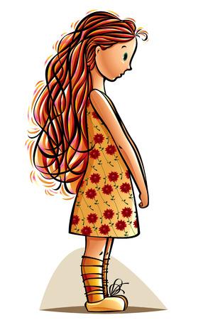 jolie petite fille: Dr�le de petite fille. Teen timide