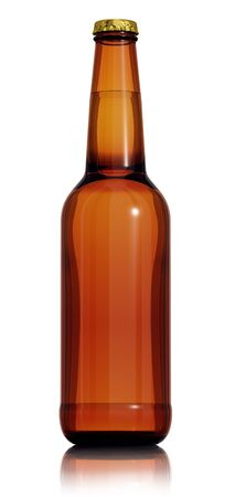 brown bottle: Bottle of beer isolated on white 3d  Stock Photo
