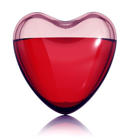 Heart filled with love concept. 3d Stock Photo - 9091956