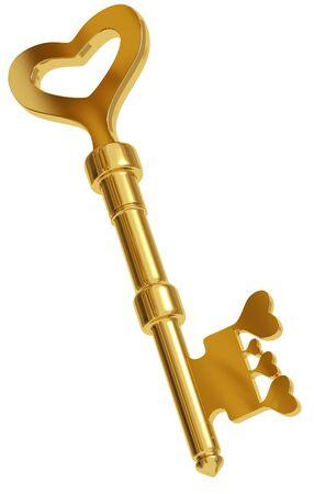 Key to every heart. 3d Stock Photo - 9091957