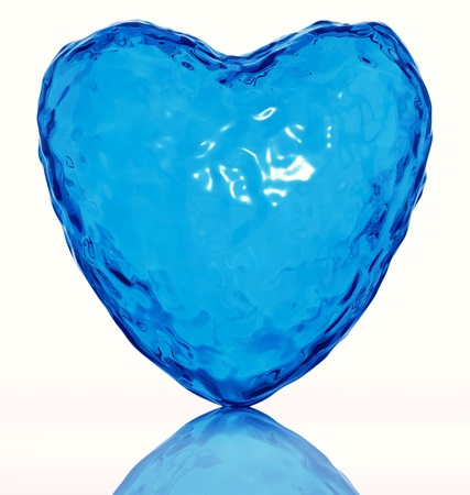 Heart of water. Life symbol. Isolated. 3d Stock Photo - 9091998