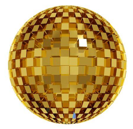 Disco ball. 3d Stock Photo