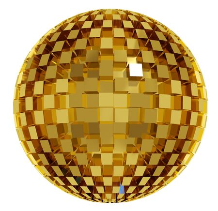 Disco ball. 3d Stock Photo