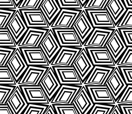 3d boxes seamless pattern. Illustration