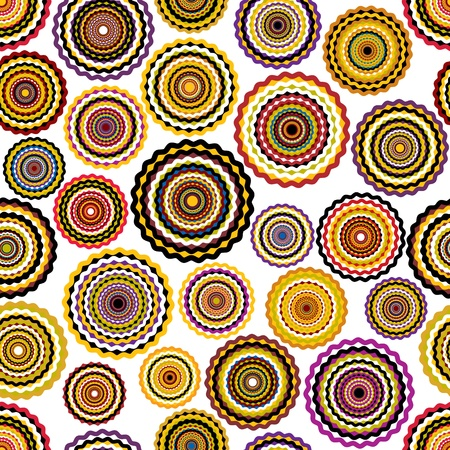 Colorful circles seamless pattern.