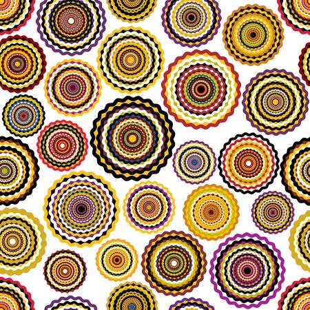 modular: Colorful circles seamless pattern.