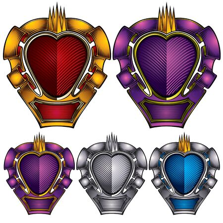 gothic heart: Vintage emblems in color