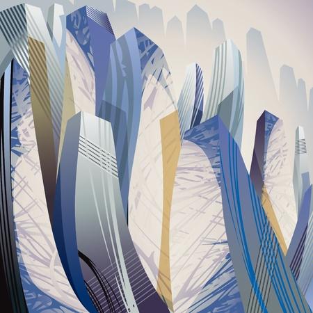 City, urban vector abstract illustration.