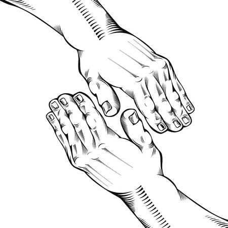 Helping hand. Vector