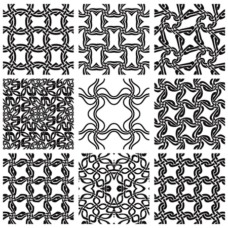 Geometric seamless patterns set  Stock Vector - 10338488