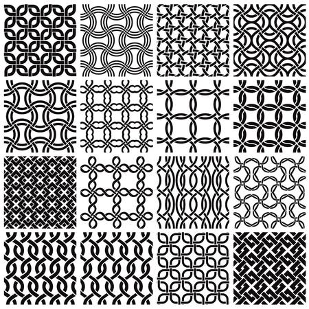 Set of geometric seamless patterns. Stock Vector - 10338470