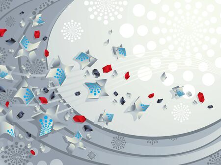 Design background with dimensional particles 2. Vector