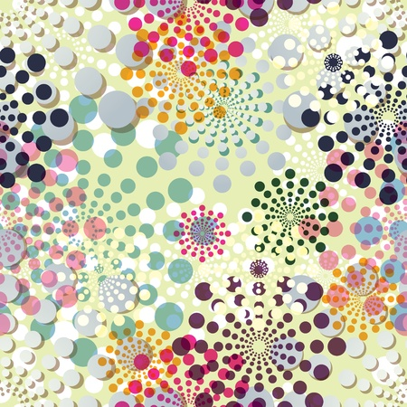 modular: Seamless pattern with round ornaments. Illustration