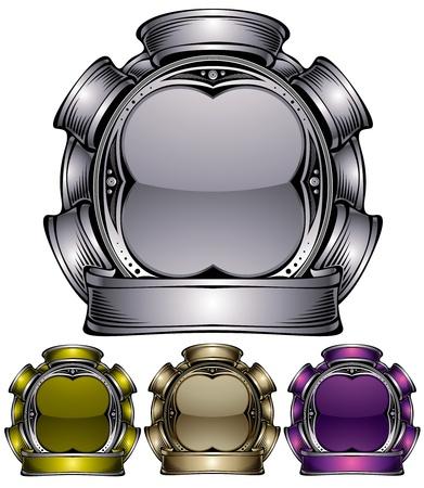 metalwork: Industrial emblem.