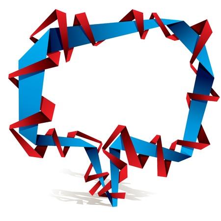 Origami style speech bubble. Stock Vector - 10850670